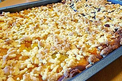 Schneller Blechkuchen mit Obst 5