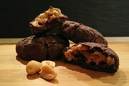 Schoko - Cookies mit Erdnussbutter - Füllung 3