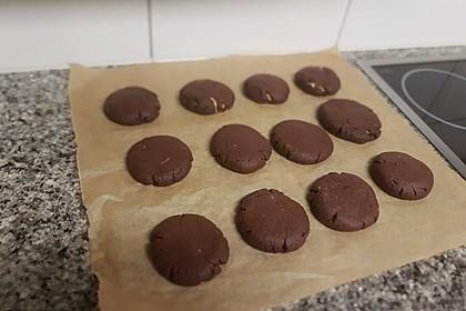 Schoko - Cookies mit Erdnussbutter - Füllung 35
