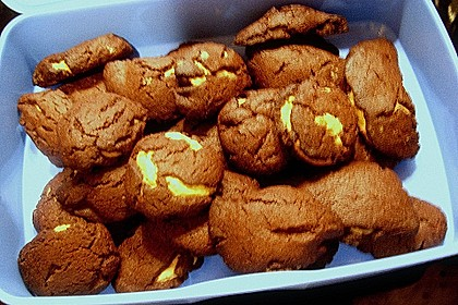 Schoko - Cookies mit Erdnussbutter - Füllung 43