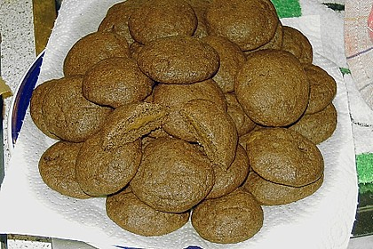 Schoko - Cookies mit Erdnussbutter - Füllung 37