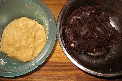 Schoko - Cookies mit Erdnussbutter - Füllung 45