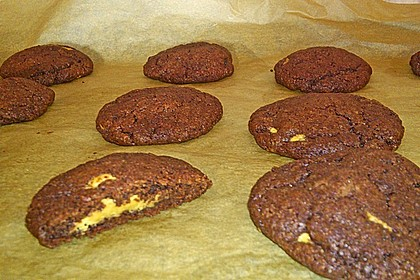 Schoko - Cookies mit Erdnussbutter - Füllung 33