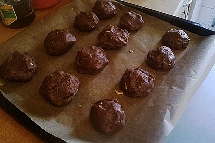 Schoko - Cookies mit Erdnussbutter - Füllung 42