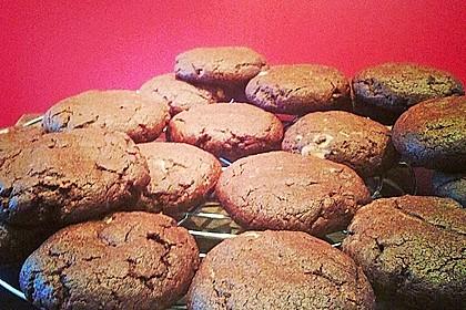 Schoko - Cookies mit Erdnussbutter - Füllung 30