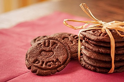 Schoko - Cookies mit Erdnussbutter - Füllung