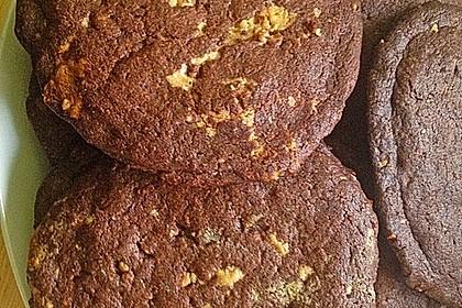Schoko - Cookies mit Erdnussbutter - Füllung 23