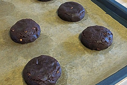 Schoko - Cookies mit Erdnussbutter - Füllung 15