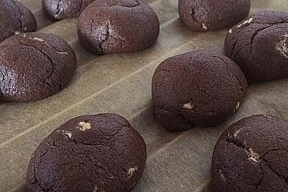 Schoko - Cookies mit Erdnussbutter - Füllung 8