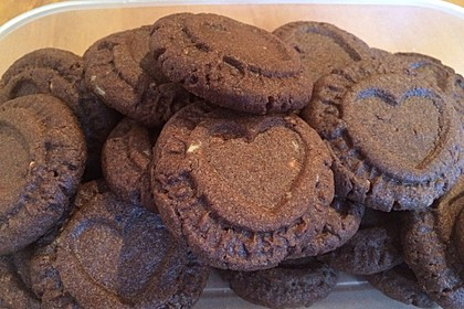 Schoko - Cookies mit Erdnussbutter - Füllung 2