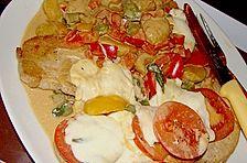 Mozzarella Schnitzel mit Paprika Gnocchi