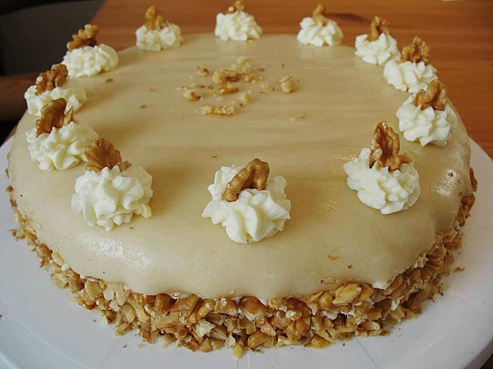 Walnuss marzipan torte rezept mit bild von - Torten dekorieren mit marzipan ...