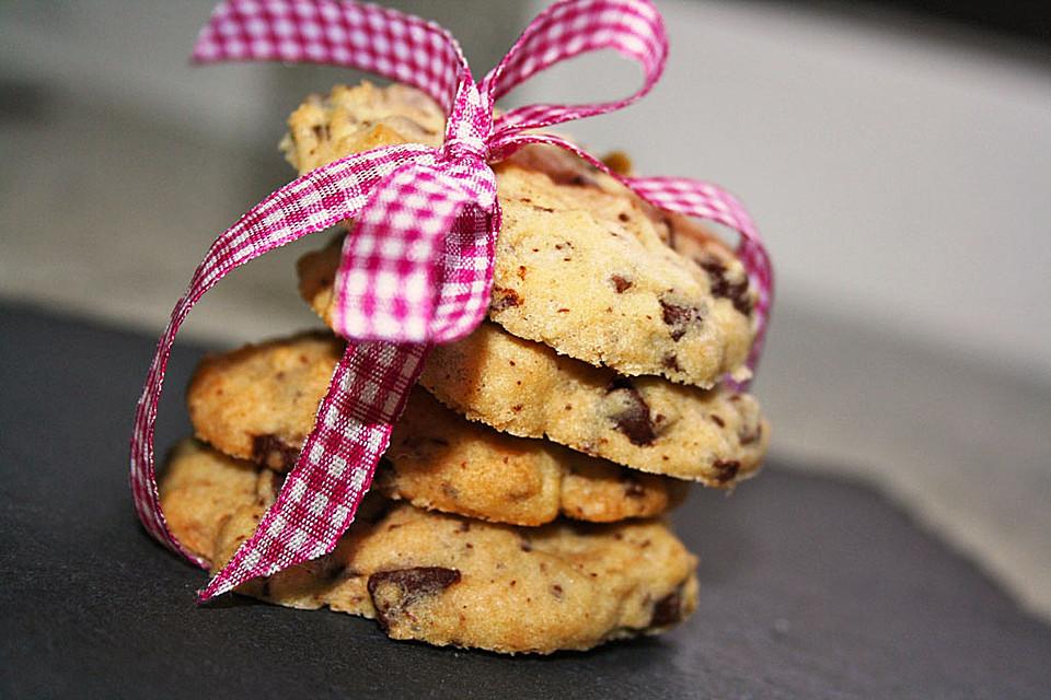 schoko cookies rezept mit bild von raseline. Black Bedroom Furniture Sets. Home Design Ideas