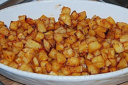 Knusprige Honig - Kartoffeln 4