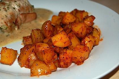 Knusprige Honig - Kartoffeln 2