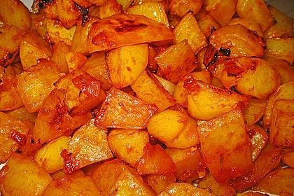 Knusprige Honig - Kartoffeln 5