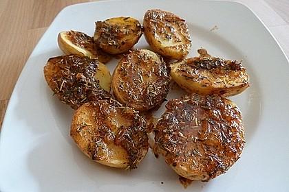 Knusprige Honig - Kartoffeln 8