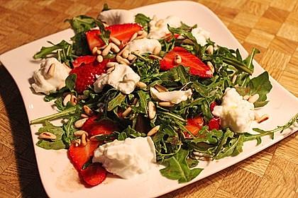 Rucola - Erdbeer - Salat mit Mozzarella 5