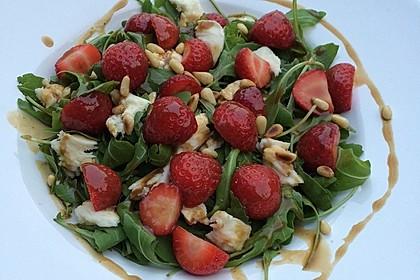 Rucola - Erdbeer - Salat mit Mozzarella 1