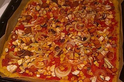 Polenta - Gemüseschnitten im Pizzaformat