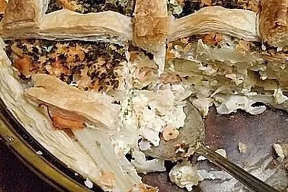 Blätterteigquiche mit Fenchel und Räucherlachs 11