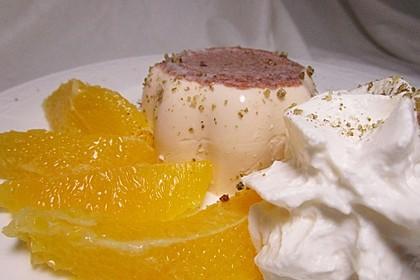 Lebkuchen - Panna Cotta mit Mandarinen (Bild)