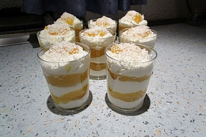 Kokos - Creme mit Ananas - Gelee 2