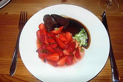 Putenleber mit Erdbeeren 1