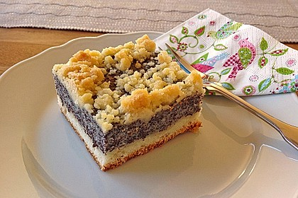 Leckerer Mohnkuchen mit Grieß 3