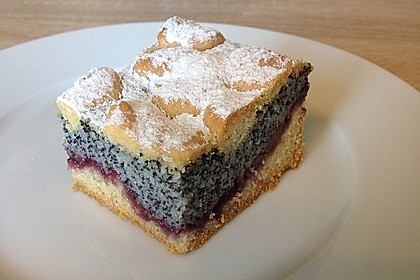 Leckerer Mohnkuchen mit Grieß 4