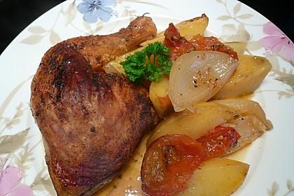 Hähnchen - Tomaten - Zwiebel - Kartoffel - Topf 1
