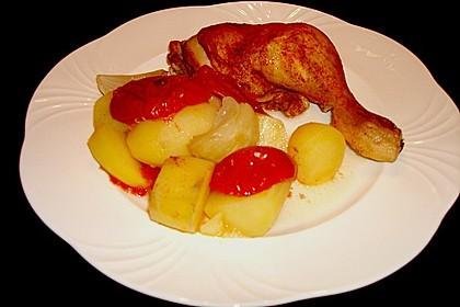 Hähnchen - Tomaten - Zwiebel - Kartoffel - Topf 14