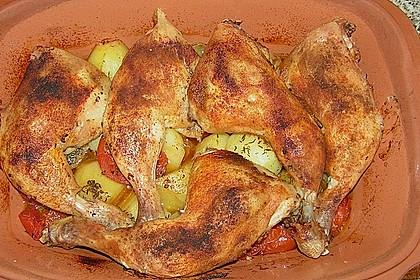 Hähnchen - Tomaten - Zwiebel - Kartoffel - Topf 4