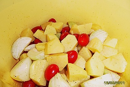 Hähnchen - Tomaten - Zwiebel - Kartoffel - Topf 16