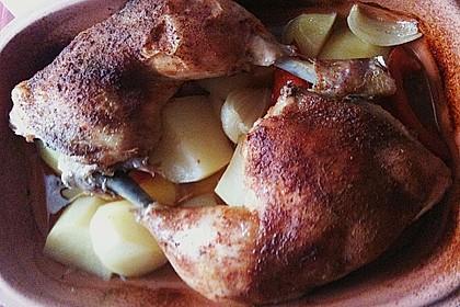 Hähnchen - Tomaten - Zwiebel - Kartoffel - Topf 11