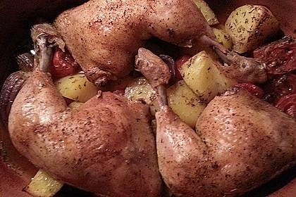 Hähnchen - Tomaten - Zwiebel - Kartoffel - Topf 15