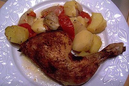 Hähnchen - Tomaten - Zwiebel - Kartoffel - Topf 10