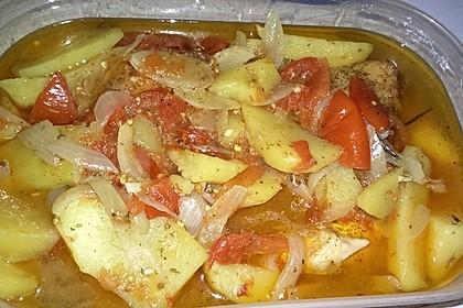 Hähnchen - Tomaten - Zwiebel - Kartoffel - Topf 12