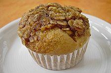 Ahornsirup - Muffins mit Haferflockenstreuseln