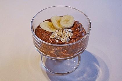 Bananen - Schokoladen - Frühstück