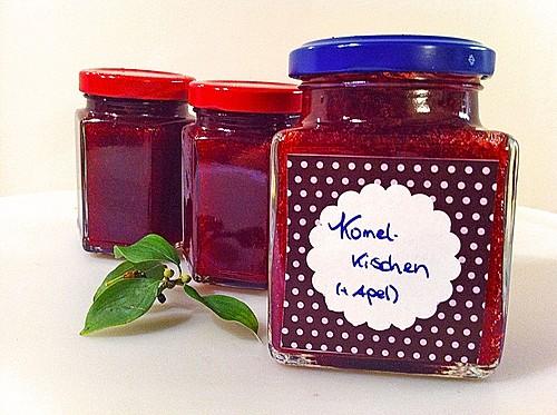kornelkirschen marmelade fast pur rezept mit bild. Black Bedroom Furniture Sets. Home Design Ideas