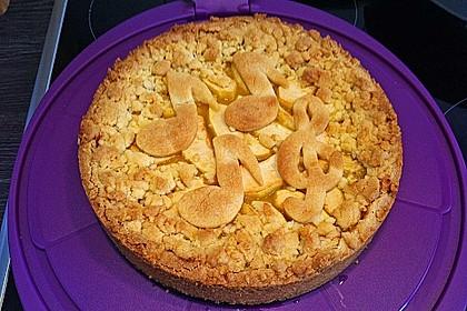 Apfeltorte / Apfelkuchen mit Apfelmus 8