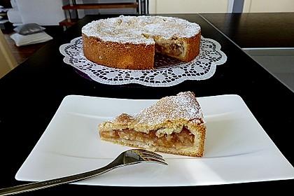 Apfeltorte / Apfelkuchen mit Apfelmus 16
