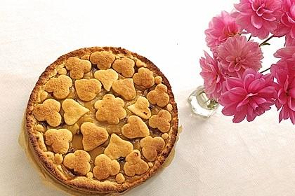 Apfeltorte / Apfelkuchen mit Apfelmus 32