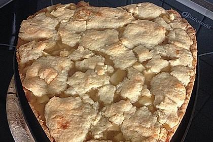 Apfeltorte / Apfelkuchen mit Apfelmus 13