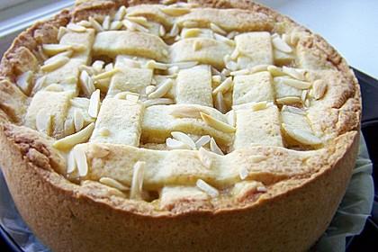 Apfelkuchen mit apfelmus und mandelstreusel