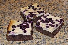 Blaubeer - Käsekuchen - Brownies