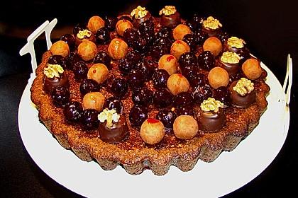 Amarenakirschen - Kastanien - Torte 1