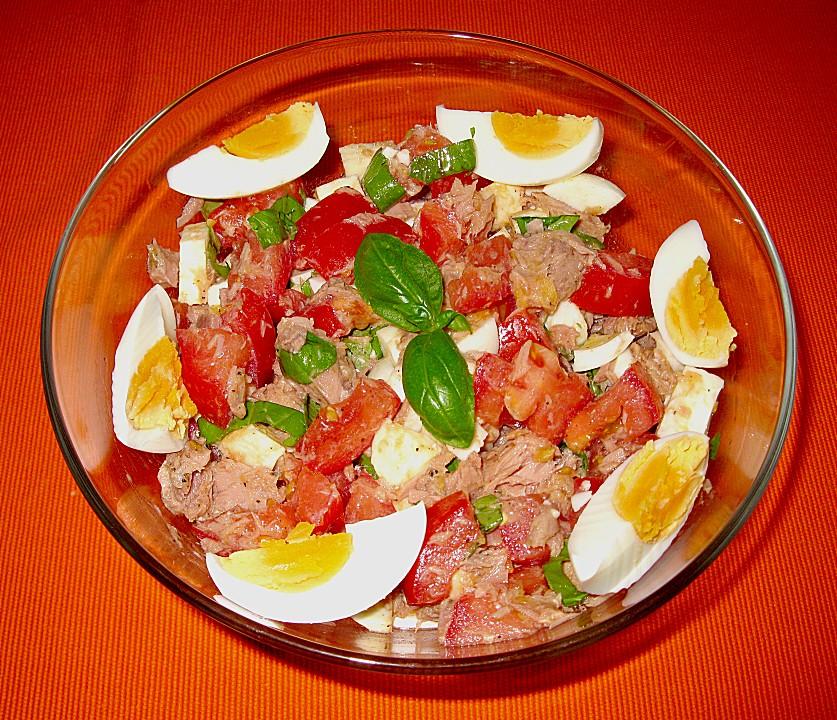 Kalorien gemischter salat mit thunfisch und feta