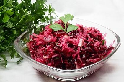 Sauerkrautsalat mit Rote Bete (Bild)
